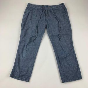 Old Navy Diva Chambray Ankle Pant S